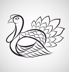 Turkey logo vector image vector image