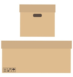 Two boxes vector image vector image