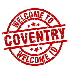 Welcome to coventry red stamp vector