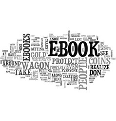 Why should you protect your ebook text word cloud vector
