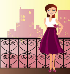 woman with dress vector image vector image