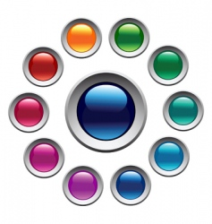 Color buttons set vector