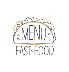 Texmex Taco Premium Quality Fast Food Street Cafe vector image