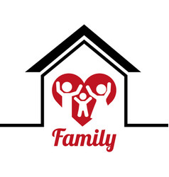 lovely family poster together vector image