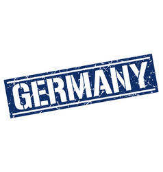 Germany blue square stamp vector