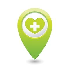 Medical icon green pointer vector