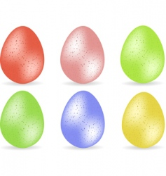 Speckled easter egg set2 vector