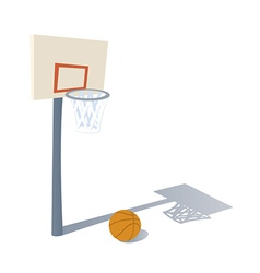 Cartoon Basketball ring vector image