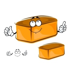 Funny loaf of white bread character vector
