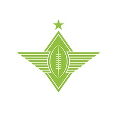 Ball with wings logo american football or rugby vector image