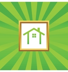 Cottage picture icon vector