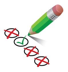 Pencil check design vector