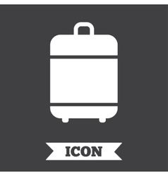 Travel luggage bag icon baggage symbol vector