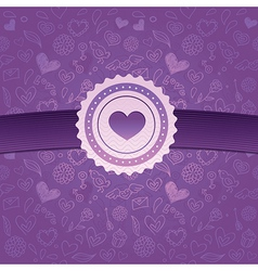abstract love background vector image vector image