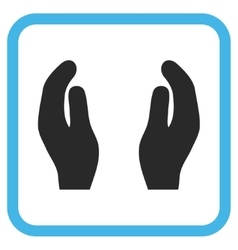 Applause Hands Icon In a Frame vector image
