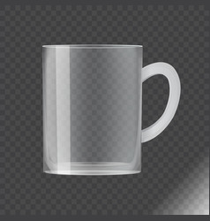blank transparent glass cup vector image
