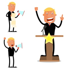 Businessman in speech vector