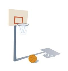 Cartoon Basketball ring vector image
