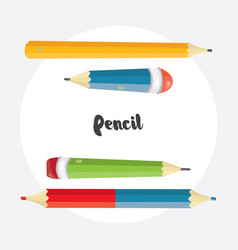 cartoon pencil collection vector image vector image