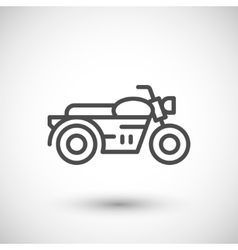 Classic motorcycle line icon vector image vector image