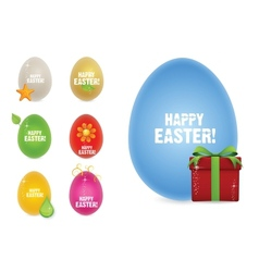 creative happy easter eggs vector image