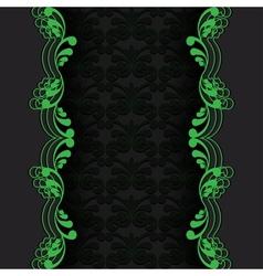dark with green vector image vector image