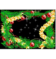 decorations of christmas tree vector image