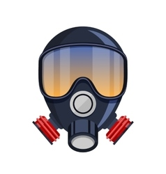 Gas mask stencil isolated over vector