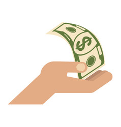 hand with dollar vector image vector image