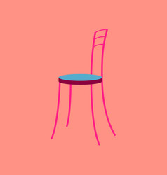 icon in flat design chair vector image