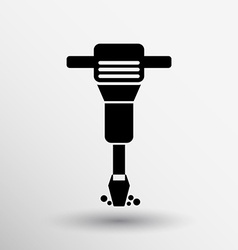 Jackhammer rounded squares icon button logo symbol vector