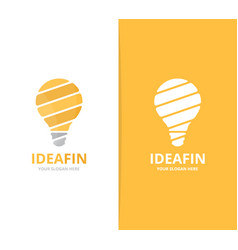 lamp logo combination lightbulb symbol or vector image