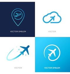 Logo design templates vector
