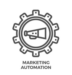marketing automation icon vector image vector image