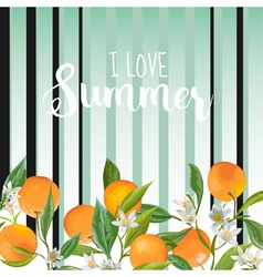 Orange Floral Background Vintage Pattern vector image vector image