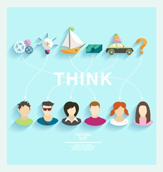 People thoughts vector image vector image