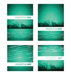 Prospectus green blue group vector