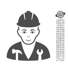 Serviceman icon with bonus vector