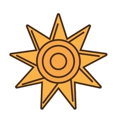 sun star climate isolated icon vector image