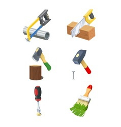 Tools Set of icon vector image