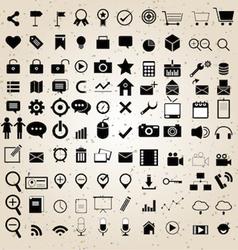 Web design icons set vector