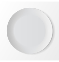White round plate on background table setting vector