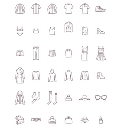 Women clothes set vector image vector image