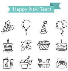 Icon of holiday new years object vector