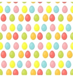 Easter eggs cute seamless pattern endless vector image