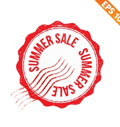 Rubber stamp summer sale - - eps10 vector
