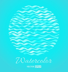 Blue waves background vector