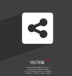 Share icon symbol flat modern web design with long vector