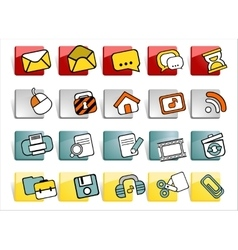 web buttons with icons vector image