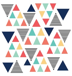 Triangle pattern color variation vector